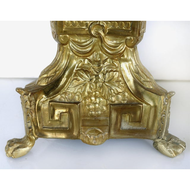 Metal Antique Gilt Metal Ecclesiastical Pricket Candlesticks - a Pair For Sale - Image 7 of 10
