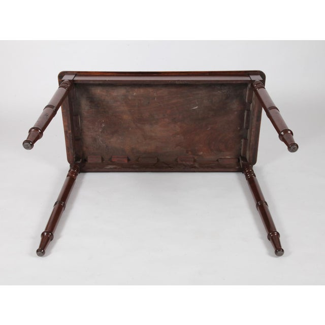 Early 19th Century Antique English Regency Mahogany Side Table For Sale In New York - Image 6 of 7