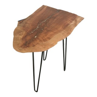 Live Edge End Table With Hairpin Legs