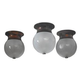 Set of three Italian ceiling lamps, Italy, 1950s