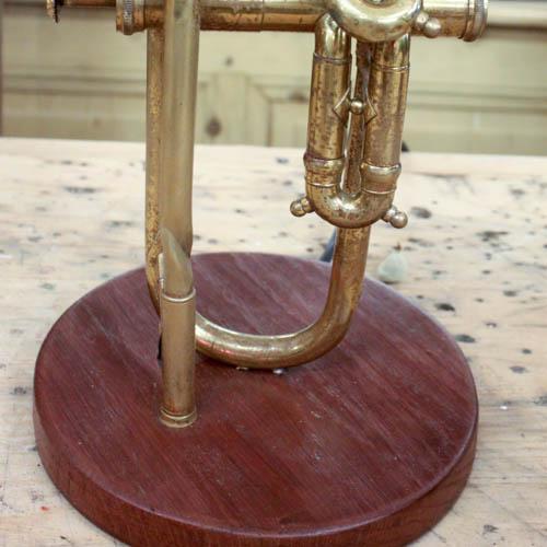 Vintage Brass Trumpet Lamp - Image 2 of 7