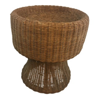 Vintage Wicker Plant Stand For Sale