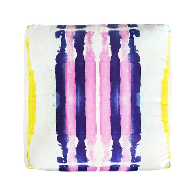 Whimsical and bold patterned fabric created from original artwork by Kristi Kohut. This pouf makes a statement and will...