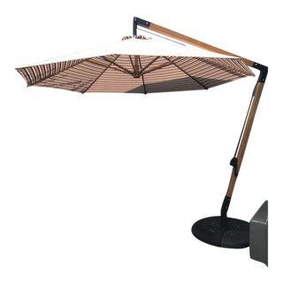 Pottery Barn Wood Cantilever Umbrella