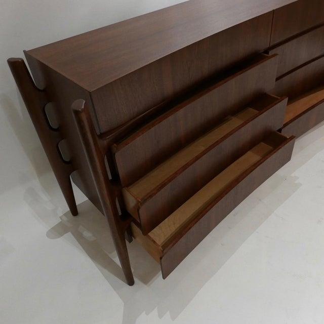 Urban Furniture William Hinn Scandinavian Mid-Century Modern Stilted Curved Chest or Dresser For Sale - Image 4 of 13