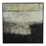"""Image of """"Black and White Ii"""" Abstract Framed Canvas For Sale"""