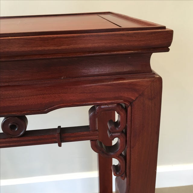 Brown Carved Chinese Rosewood Alter Table For Sale - Image 8 of 11