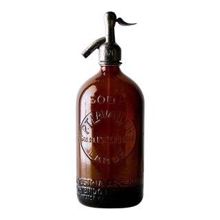 Industrial Brown Vintage Seltzer For Sale