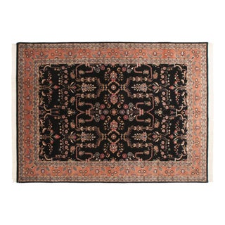 "Vintage Indian Mohajeran Sarouk Design Carpet - 9'10"" X 13'7"" For Sale"