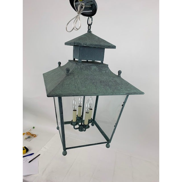 Metal Single 4 Light Lantern by Genie House For Sale - Image 7 of 9