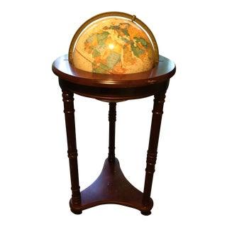 Floor Globe on Full Mount Walnut Stand