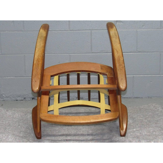 1960s Danish Teak Rocking Chair by Frank Reenskaug for Brahmin For Sale - Image 5 of 6