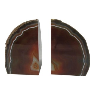 Russet Geode Bookends - A Pair