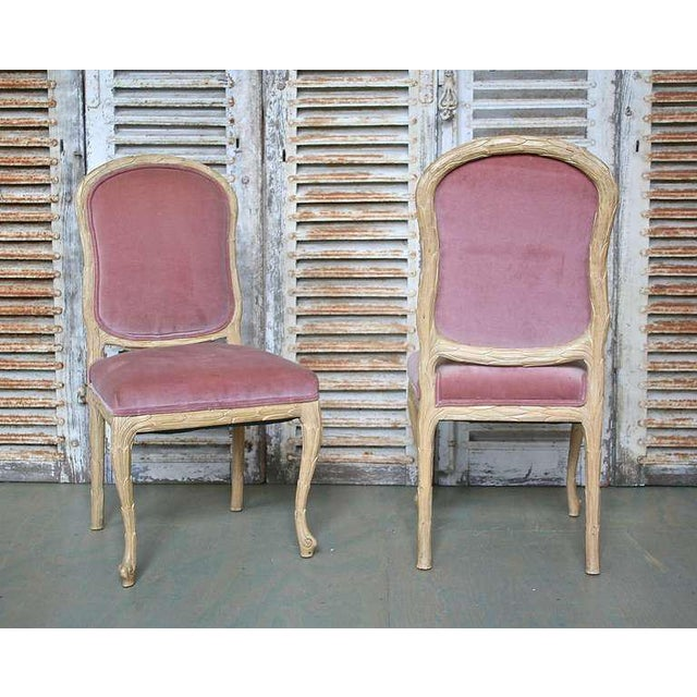 1960s Hollywood Regency Hand-Carved Dining Chairs - Set of 6 For Sale - Image 4 of 11