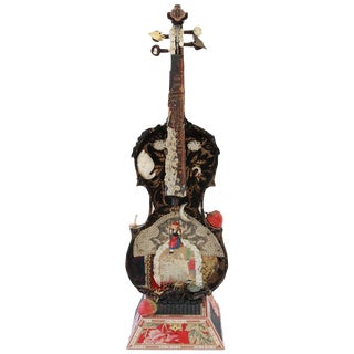 Violin and Cigar Box Sculpture For Sale
