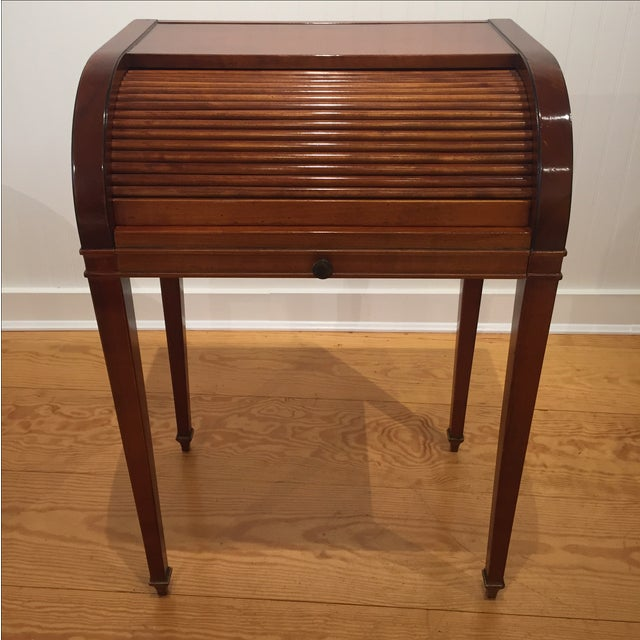 Cherry Roll Top Accent Table - Image 9 of 9