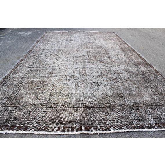 "Vintage Oushak Handmade Area Rug - 5'3"" x 8'6"" For Sale - Image 5 of 10"