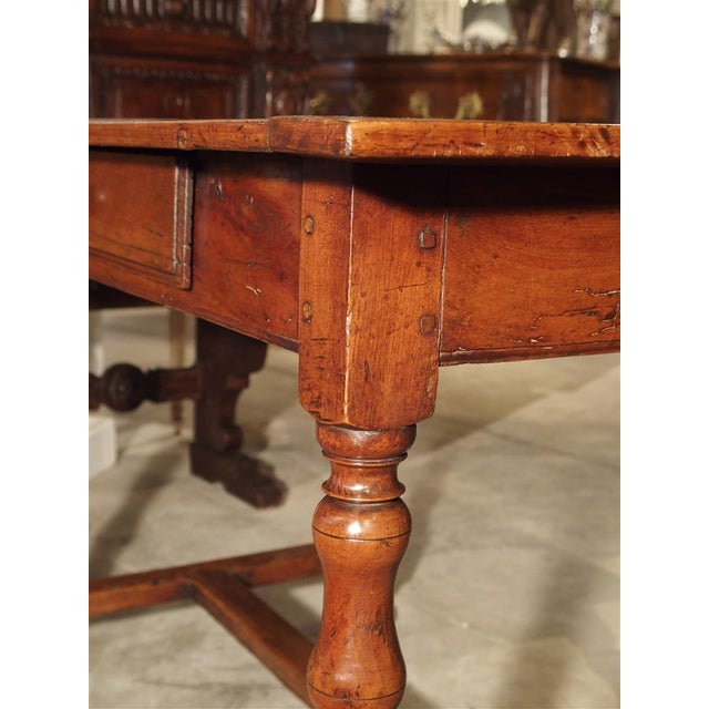 Mid 18th Century Antique Cherry and Walnut Wood Side Table, 18th Century For Sale - Image 5 of 12