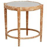Image of Mid-Century Italian Faux Bois Carved Occasional Table For Sale