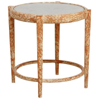 Mid-Century Italian Faux Bois Carved Occasional Table For Sale