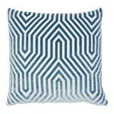 """Image of Vanderbilt Blue Velvet 22"""" Pillow For Sale"""