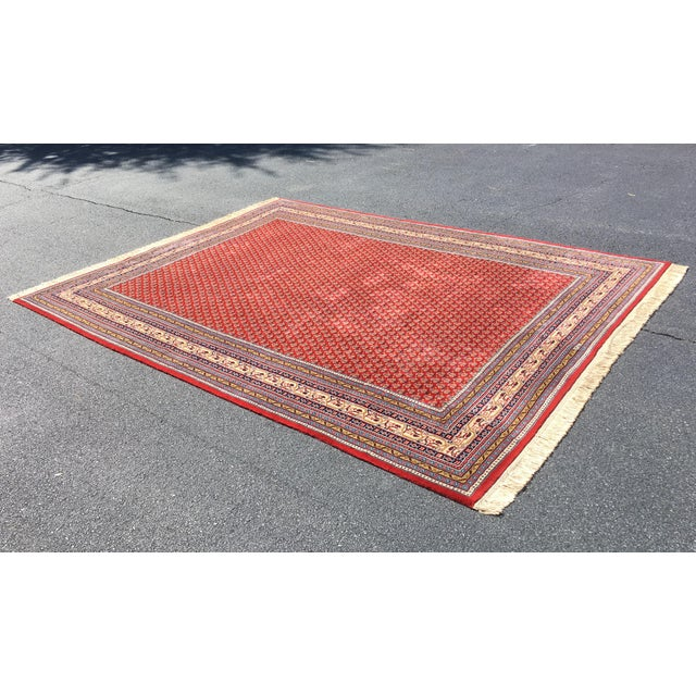 1990s Handknotted Mir Area Rug- 8′7″ × 11′11″ For Sale - Image 12 of 13