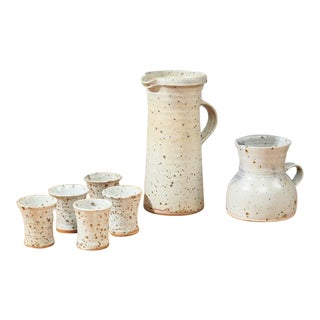 Gustave Tiffoche Ceramic Pitcher Set For Sale