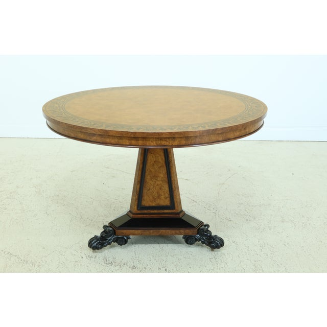 Baker Stately Homes NeoClassical Round Center Table For Sale - Image 11 of 11