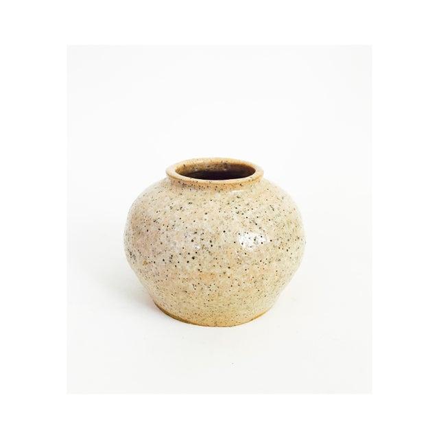 Vintage Pink Speckle Handmade Pottery Vase Chairish
