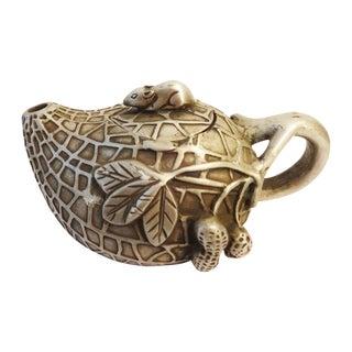 Peanut Shaped Bronze Tea Pot