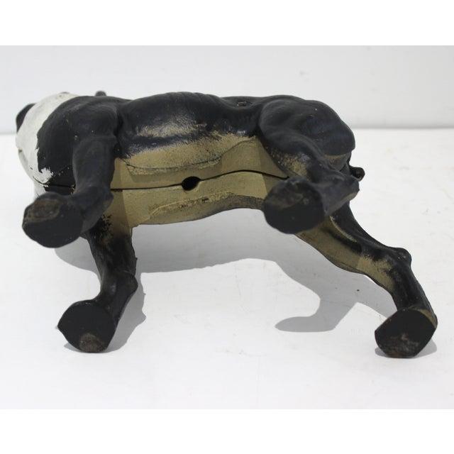 Black Vintage Hubley Style Boston Terrier Dog 2-Piece Cast Iron Doorstop Door Stop For Sale - Image 8 of 10