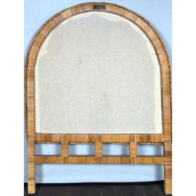 Pair of Arched Wicker/Rattan Twin Size Headboards For Sale - Image 9 of 13