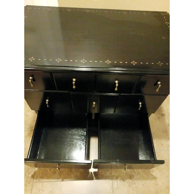 Black Drexel Heritage 9 Drawer Apothecary Cabinet For Sale - Image 8 of 11