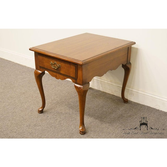 Thomasville Thomasville Furniture Collectors Cherry Collection End Table For Sale - Image 4 of 13