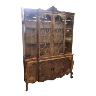 Antique French Romweber Buffet and China Cabinet For Sale