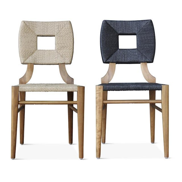 """Outdoor """"How to Marry a Millionaire"""" Dining Chair in Charcoal or Sand For Sale In Los Angeles - Image 6 of 6"""