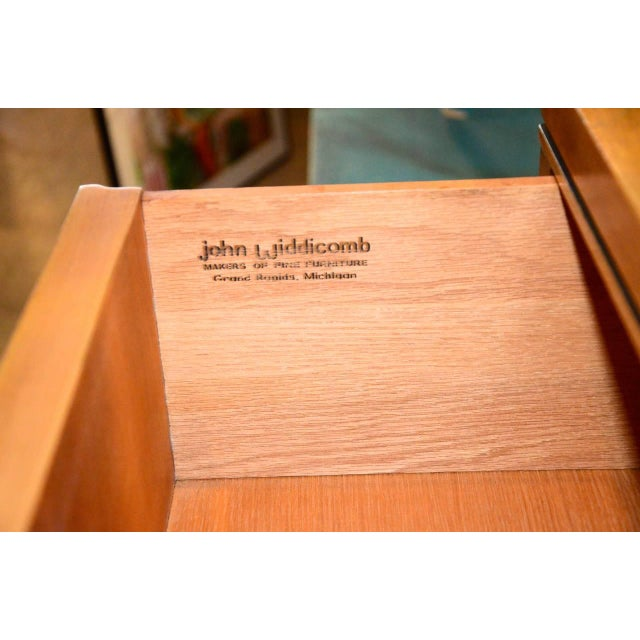 John Stuart for Widdicomb Walnut Dresser with Brass Pulls - Image 7 of 8