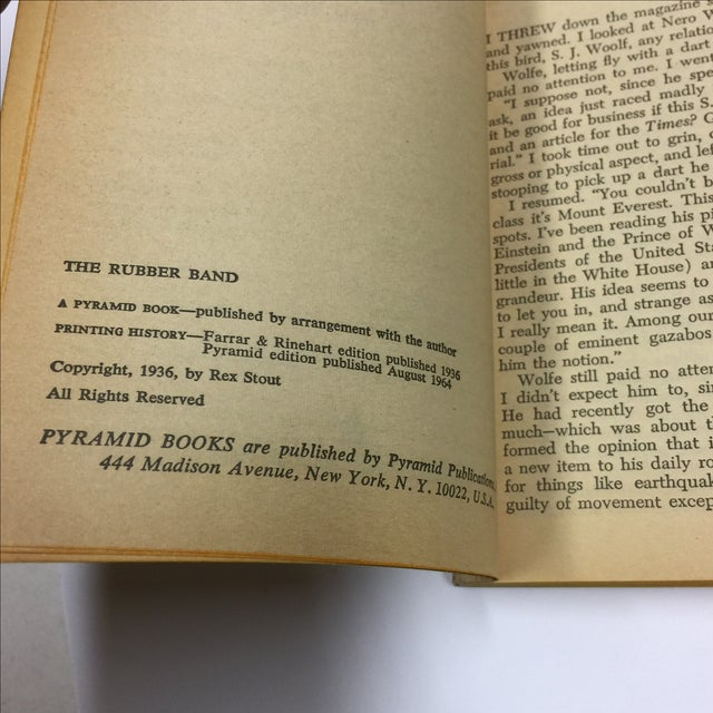 Vintage 1964 Books by Rex Stout - A Pair For Sale - Image 5 of 7