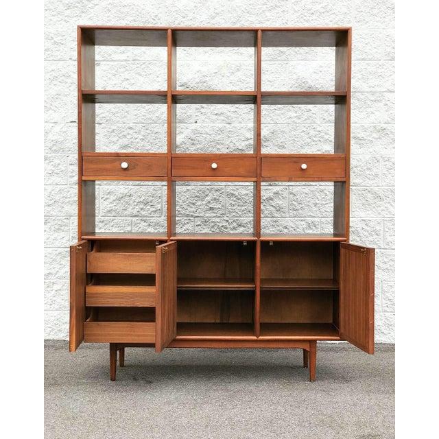 Drexel Declaration Mid Century Modern Drexel Declaration Wall Unit For Sale - Image 4 of 13