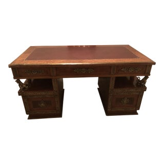 Custom Rococo Wooden Desk For Sale
