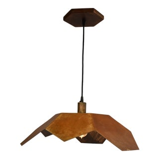 Oblik Studio Inc Light Tan Patina Ceiling Pendant For Sale
