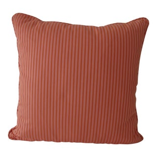 Perennials Outdoor Fabric Pillow in Pink and Orange For Sale