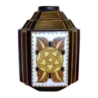 """Charles Catteau """"La Louviere"""" Hexagon Vase For Sale"""