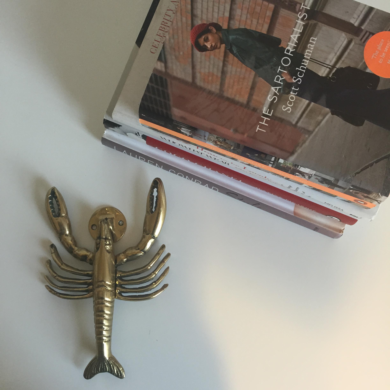 Charmant Mid Century Brass Lobster Door Knocker   Image 2 Of 5