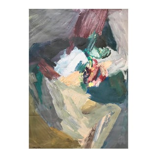 Mid-Century Abstract Figurative Painting For Sale