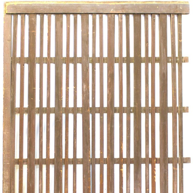 Early 20th Century Japanese Machiya Cedar Exterior Panel/Screen For Sale - Image 5 of 7