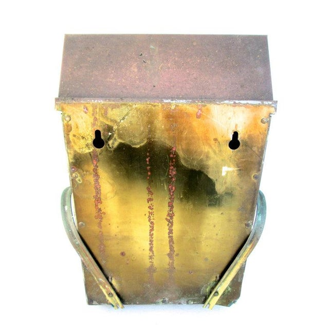 Vintage Copper Wall Mount Mailbox - Image 4 of 5