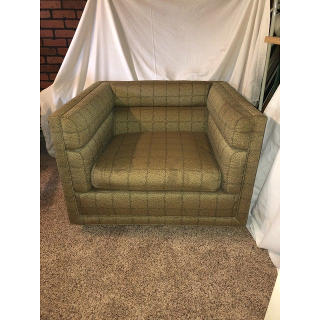 Textile Edward Wormley Dunbar Cube Lounge Chair For Sale - Image 7 of 9