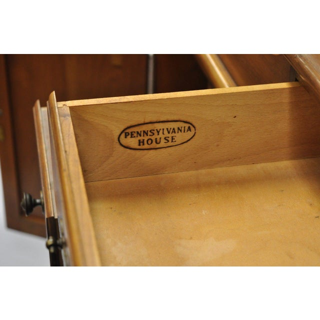 Cherry Wood Pennsylvania House Solid Cherry Wood Colonial Drysink Dry Sink Cabinet Server For Sale - Image 7 of 12