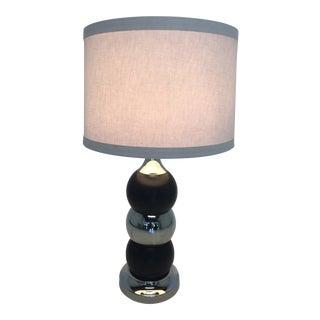 Vintage 1960's Chrome & Black Eyeball Table Lamp For Sale